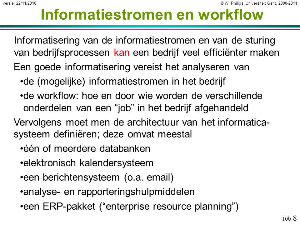 Informatiestromen en workflow