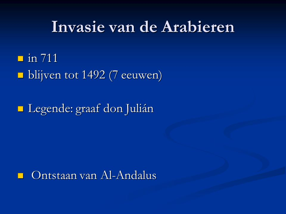 Invasie van de Arabieren