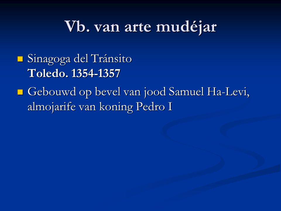 Vb. van arte mudéjar Sinagoga del Tránsito Toledo. 1354-1357