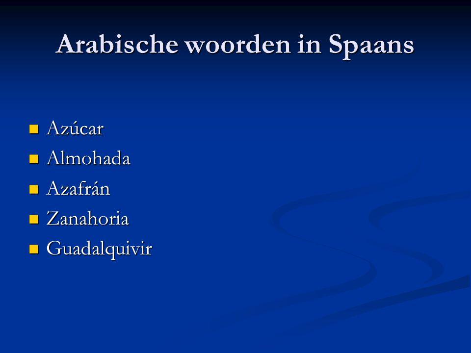 Arabische woorden in Spaans