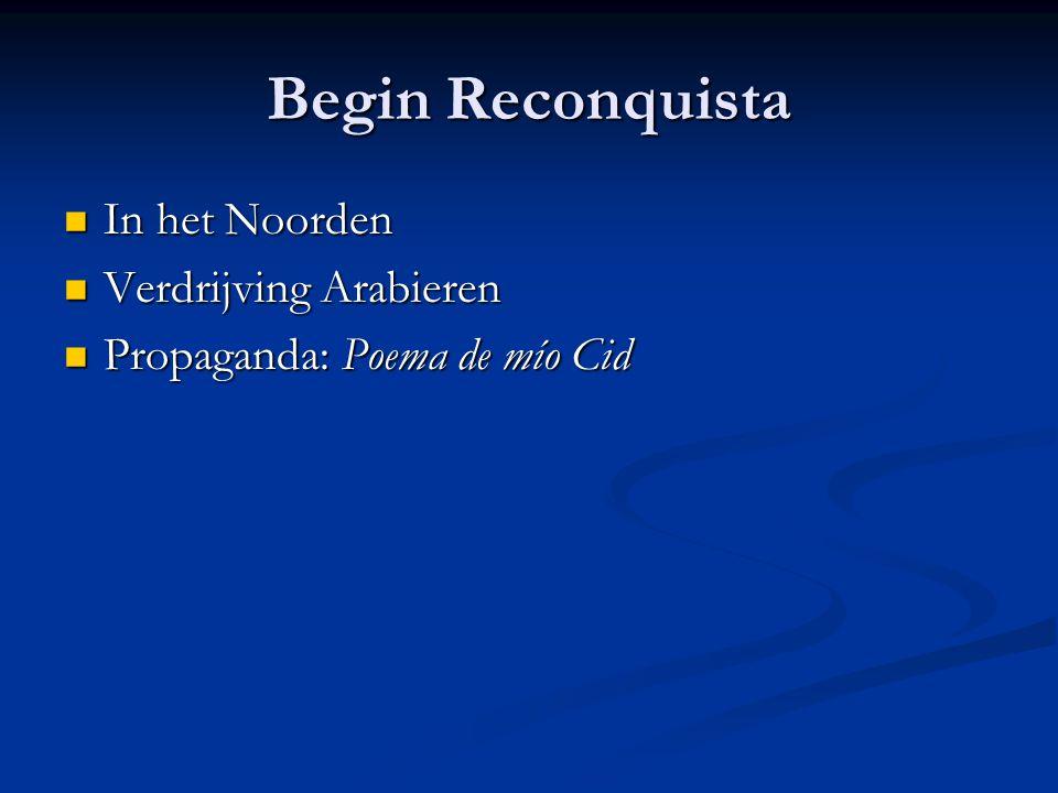 Begin Reconquista In het Noorden Verdrijving Arabieren