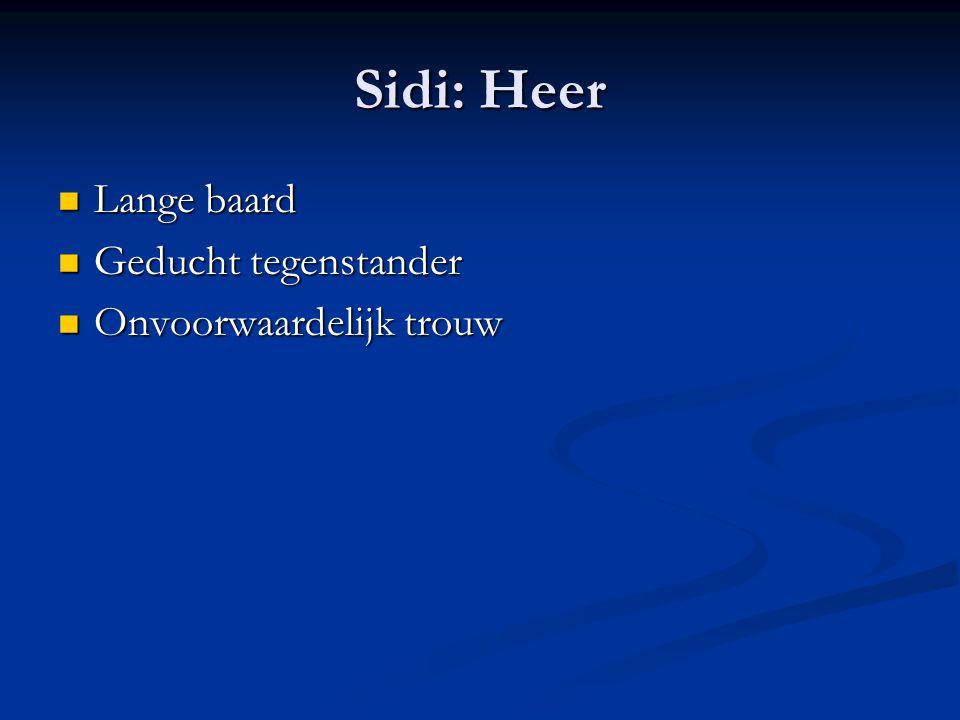 Sidi: Heer Lange baard Geducht tegenstander Onvoorwaardelijk trouw