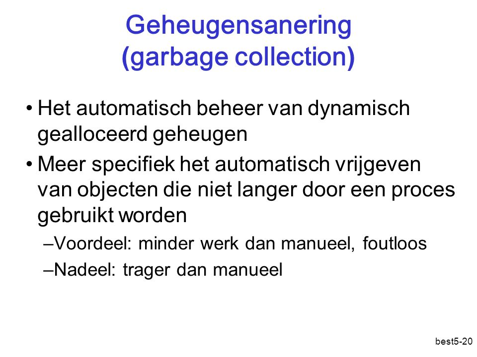 Geheugensanering (garbage collection)