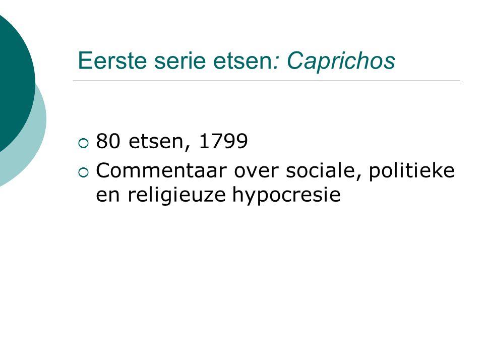 Eerste serie etsen: Caprichos