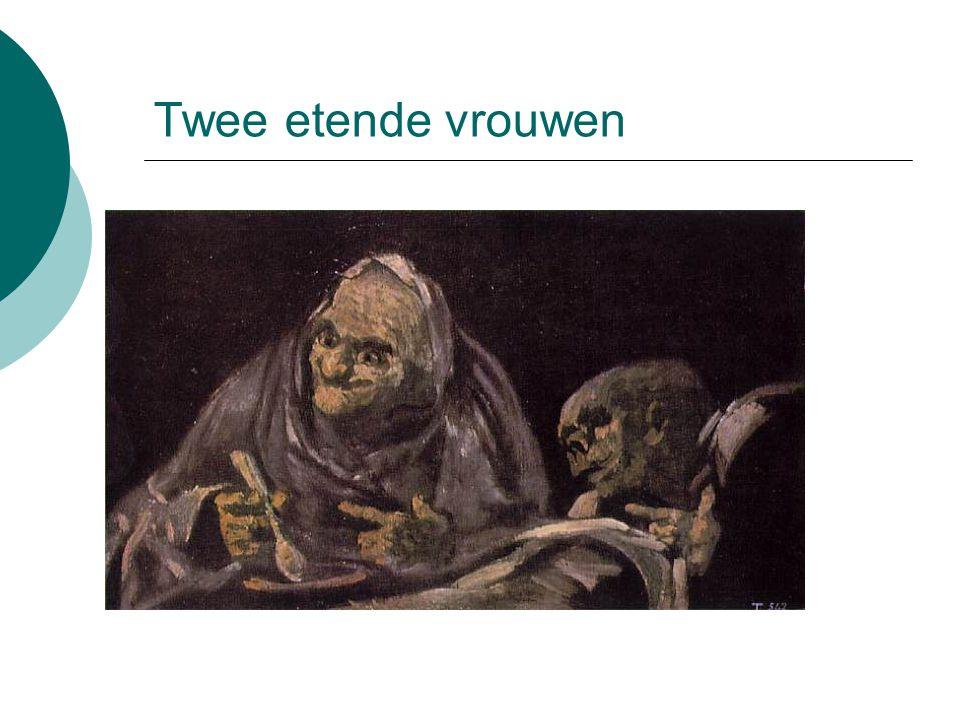 Twee etende vrouwen