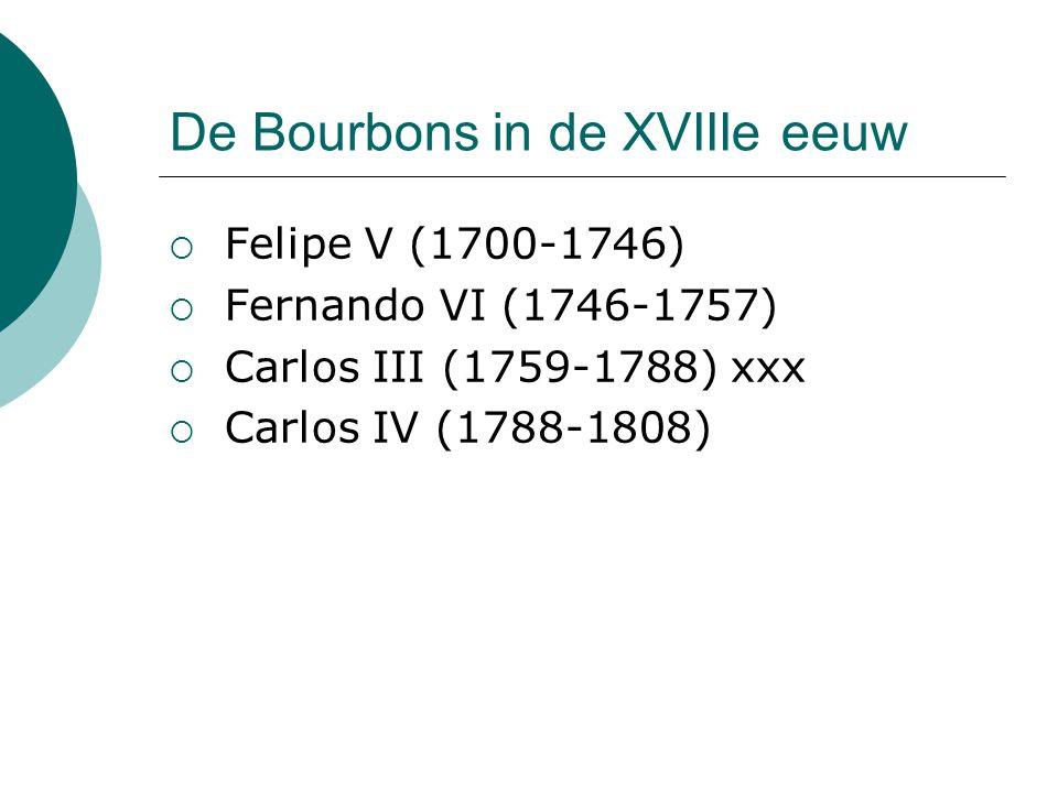 De Bourbons in de XVIIIe eeuw