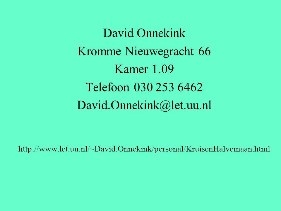 David Onnekink Kromme Nieuwegracht 66 Kamer 1.09 Telefoon 030 253 6462