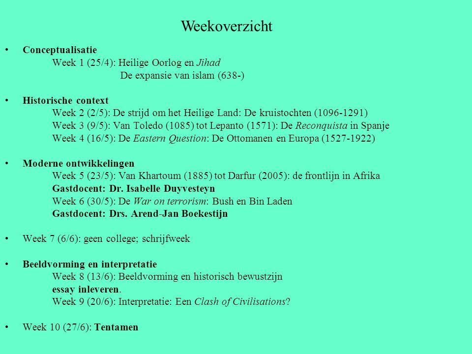 Weekoverzicht Conceptualisatie Week 1 (25/4): Heilige Oorlog en Jihad