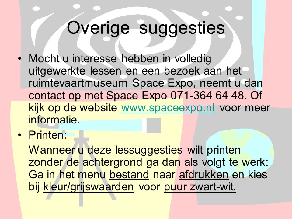 Overige suggesties
