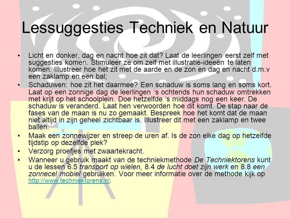 Lessuggesties Techniek en Natuur