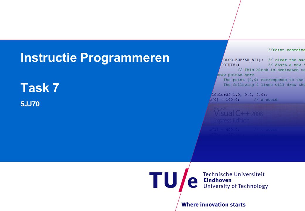Instructie Programmeren Task 7