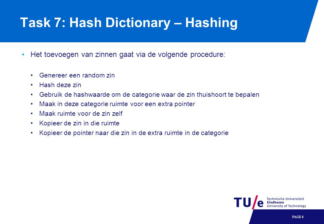 Task 7: Hash Dictionary – Hashing