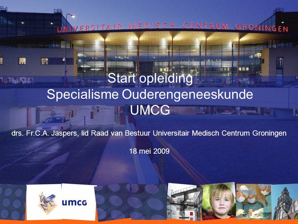 Start opleiding Specialisme Ouderengeneeskunde UMCG