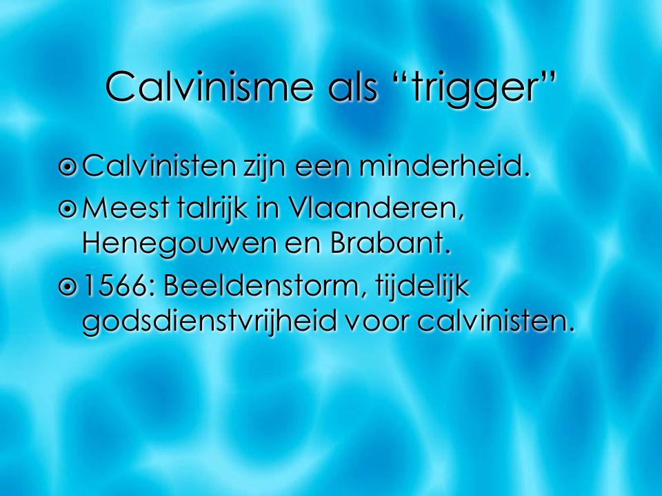 Calvinisme als trigger