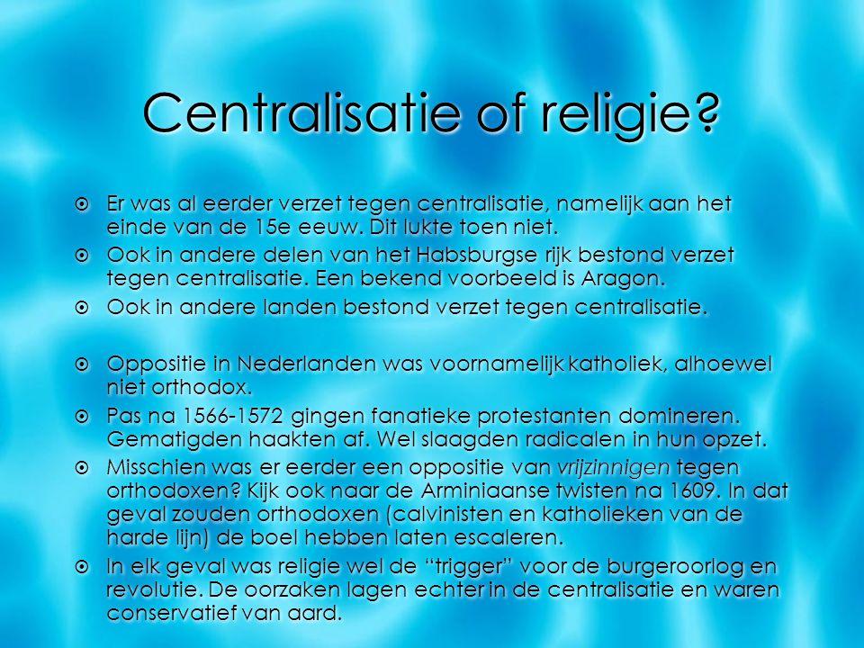 Centralisatie of religie