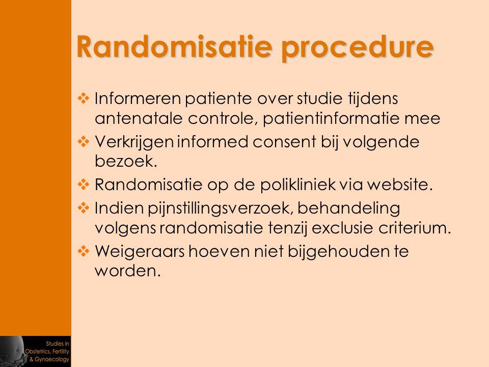 Randomisatie procedure