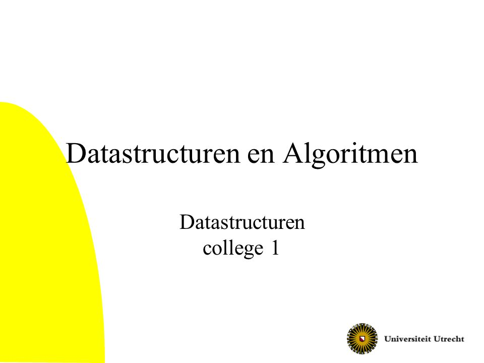 Datastructuren en Algoritmen