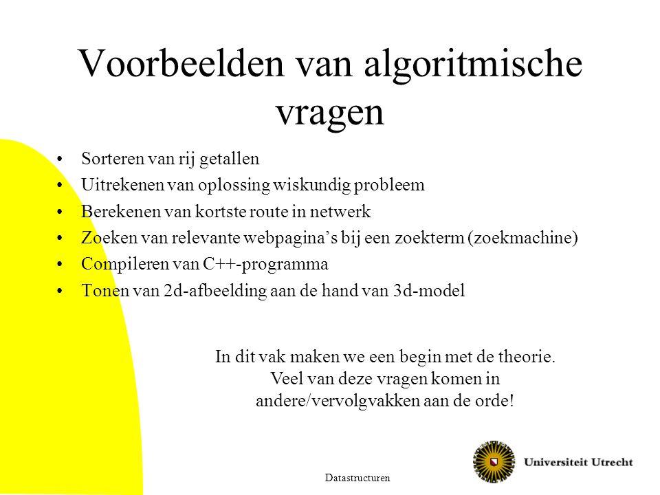 Voorbeelden van algoritmische vragen