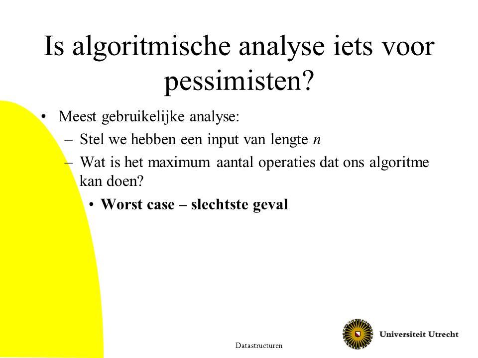 Is algoritmische analyse iets voor pessimisten