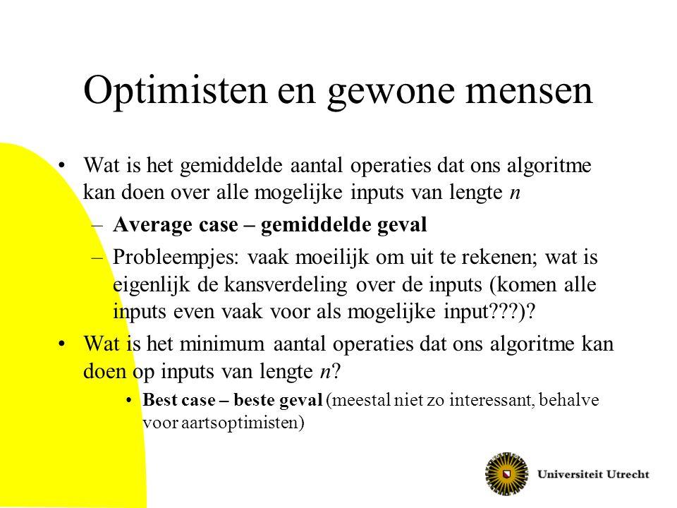 Optimisten en gewone mensen
