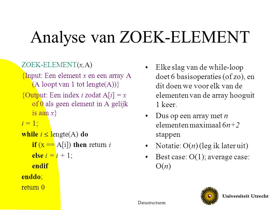 Analyse van ZOEK-ELEMENT
