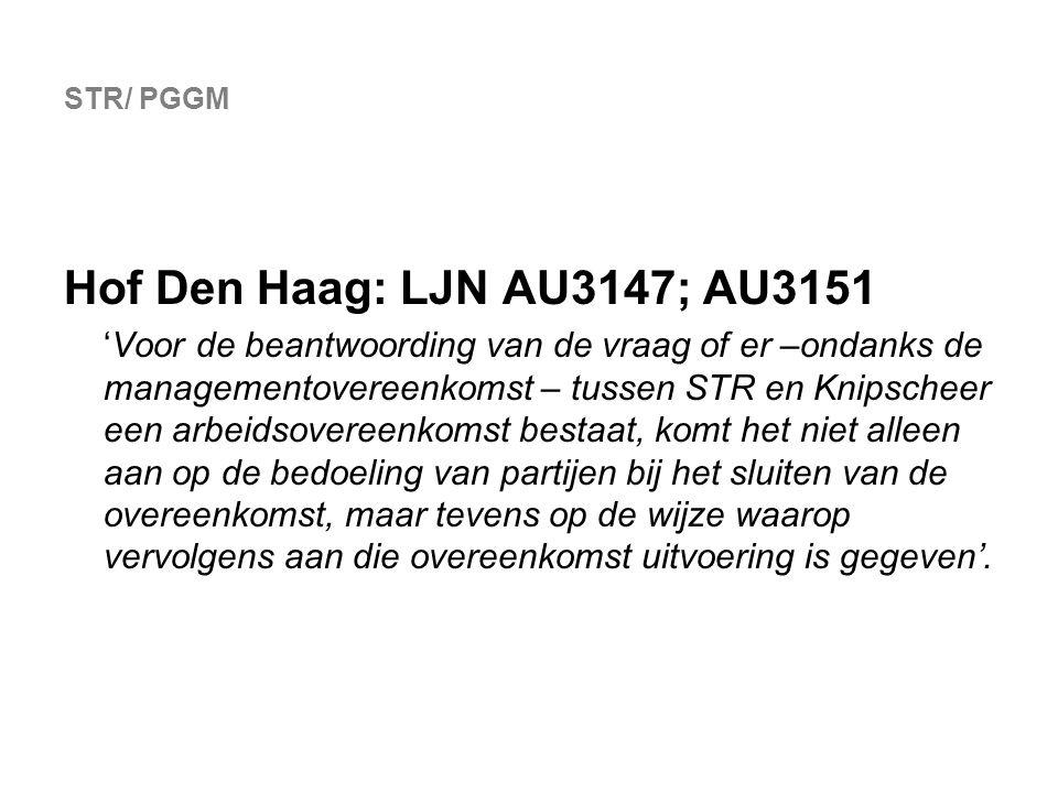 STR/ PGGM Hof Den Haag: LJN AU3147; AU3151.