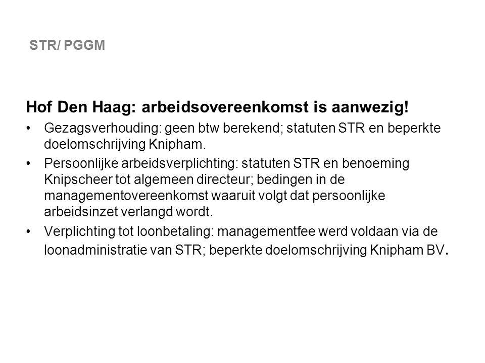 Hof Den Haag: arbeidsovereenkomst is aanwezig!