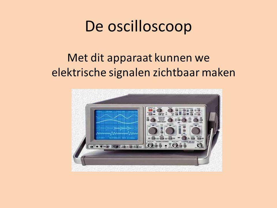 Met dit apparaat kunnen we elektrische signalen zichtbaar maken