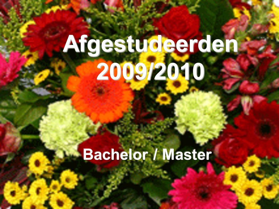 Afgestudeerden 2009/2010 Bachelor / Master
