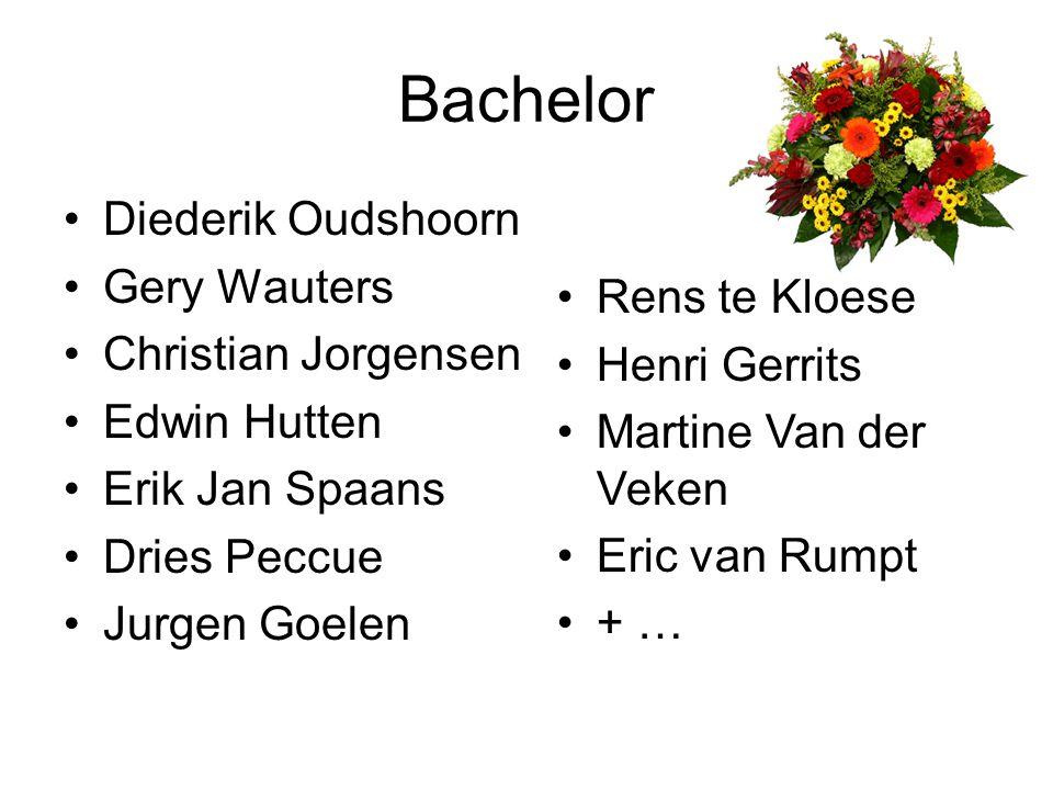 Bachelor Diederik Oudshoorn Gery Wauters Christian Jorgensen