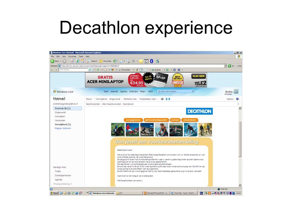 Decathlon experience