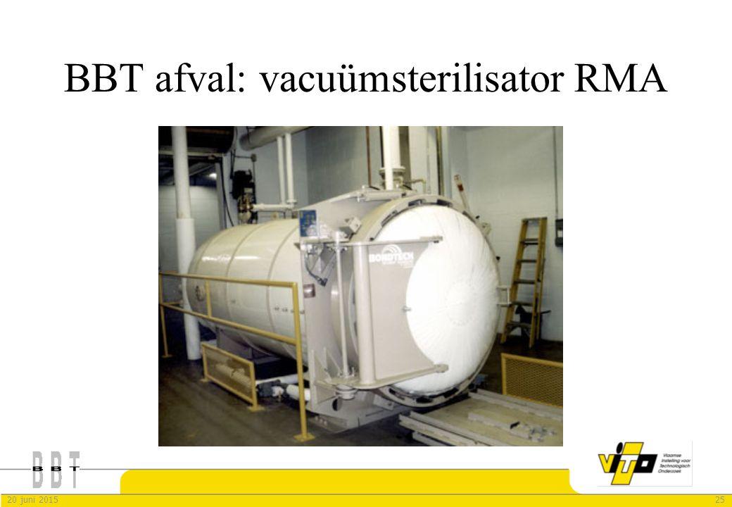 BBT afval: vacuümsterilisator RMA