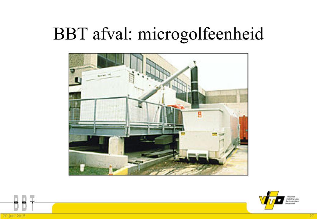 BBT afval: microgolfeenheid