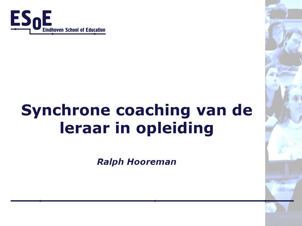Synchrone coaching van de leraar in opleiding