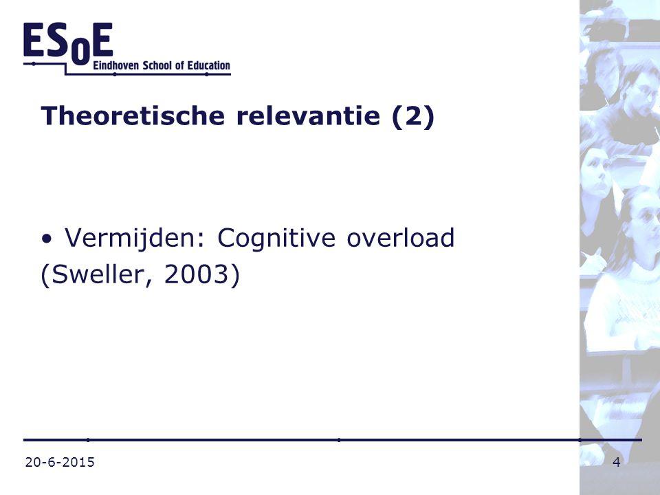 Theoretische relevantie (2)
