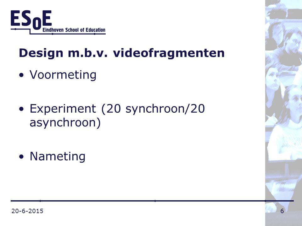 Design m.b.v. videofragmenten