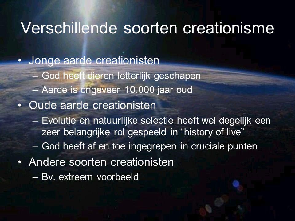 Verschillende soorten creationisme