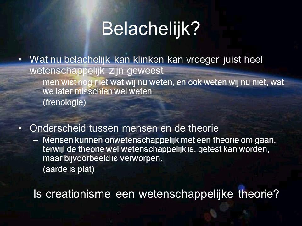 Belachelijk Is creationisme een wetenschappelijke theorie