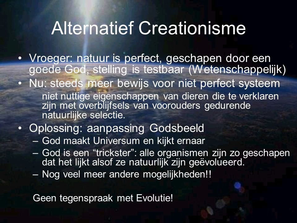Alternatief Creationisme