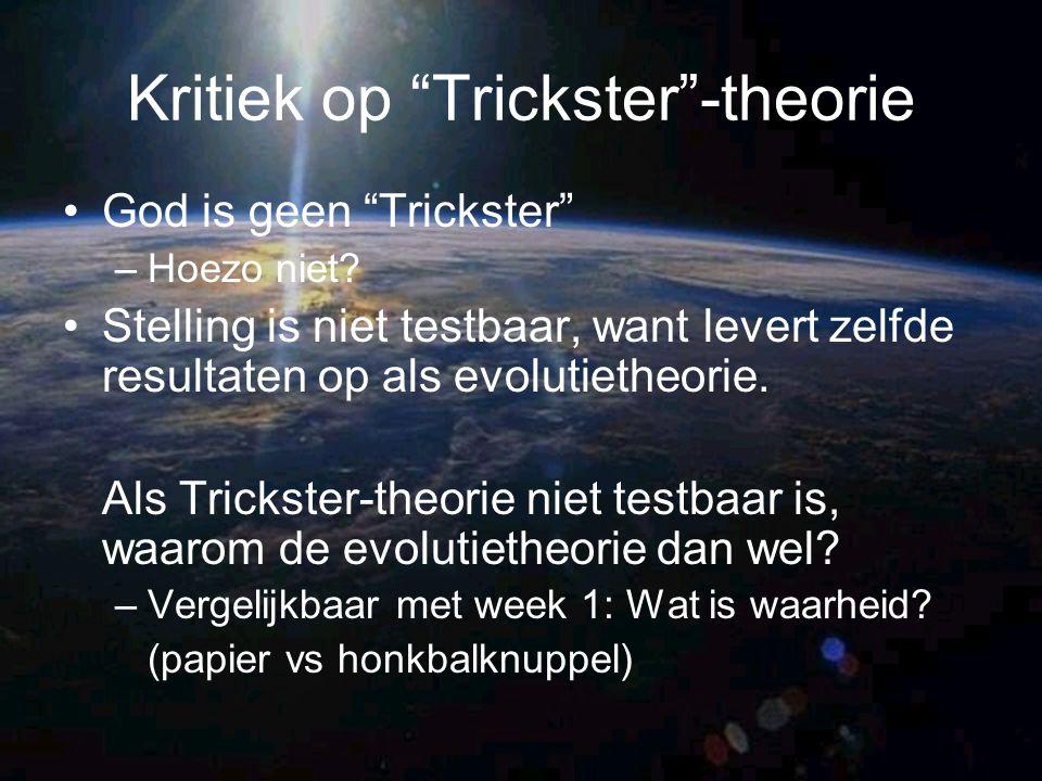 Kritiek op Trickster -theorie