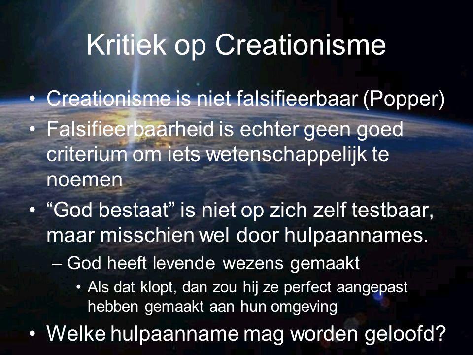 Kritiek op Creationisme