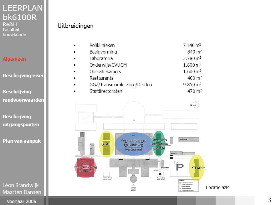 Uitbreidingen Poliklinieken 7.140 m2 Beeldvorming 840 m2