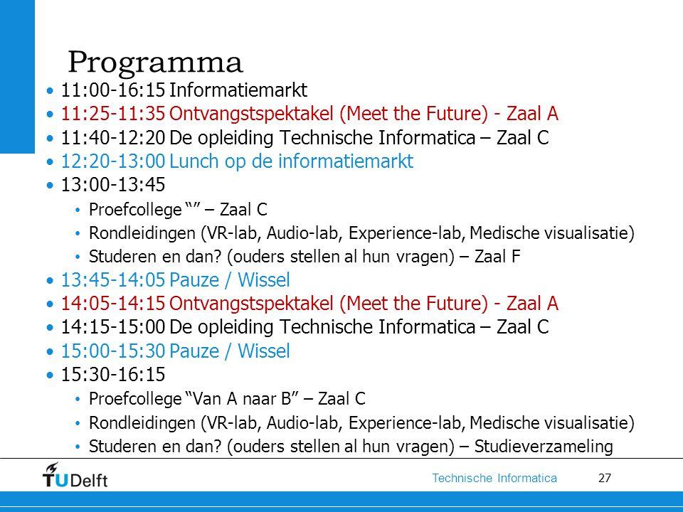 Programma 11:00-16:15 Informatiemarkt