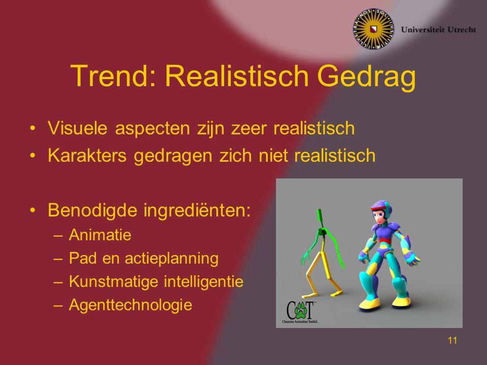 Trend: Realistisch Gedrag