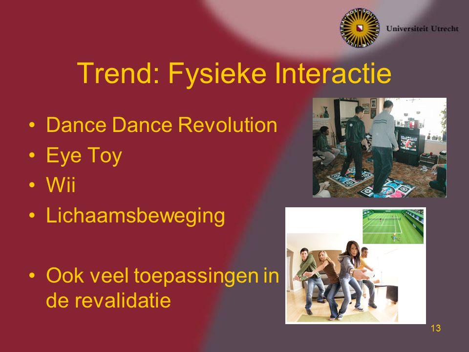 Trend: Fysieke Interactie