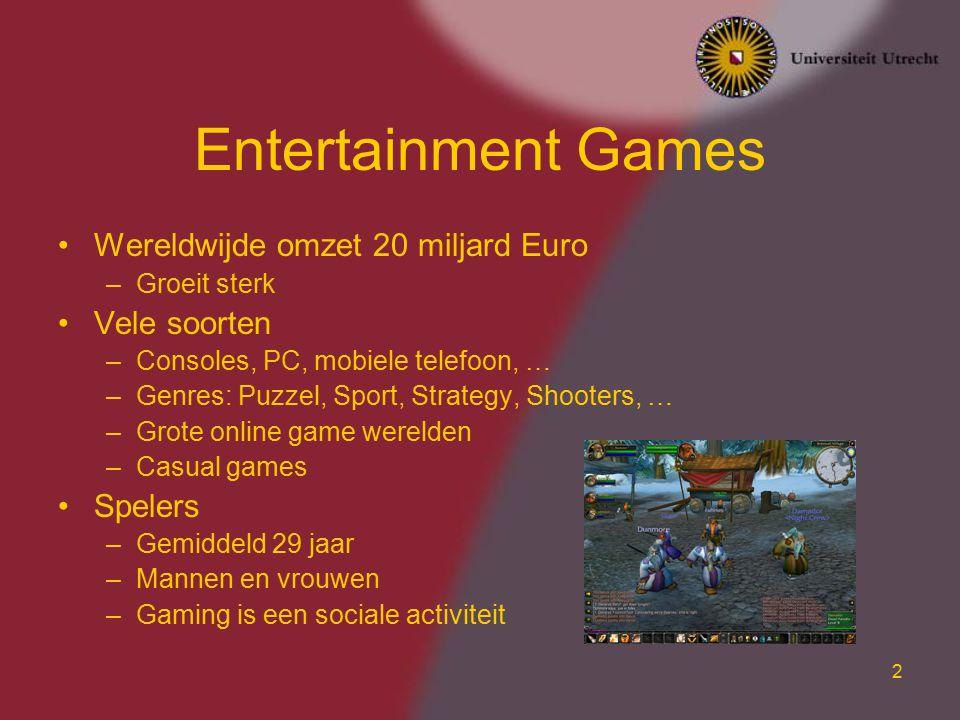 Entertainment Games Wereldwijde omzet 20 miljard Euro Vele soorten