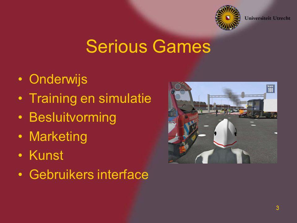Serious Games Onderwijs Training en simulatie Besluitvorming Marketing
