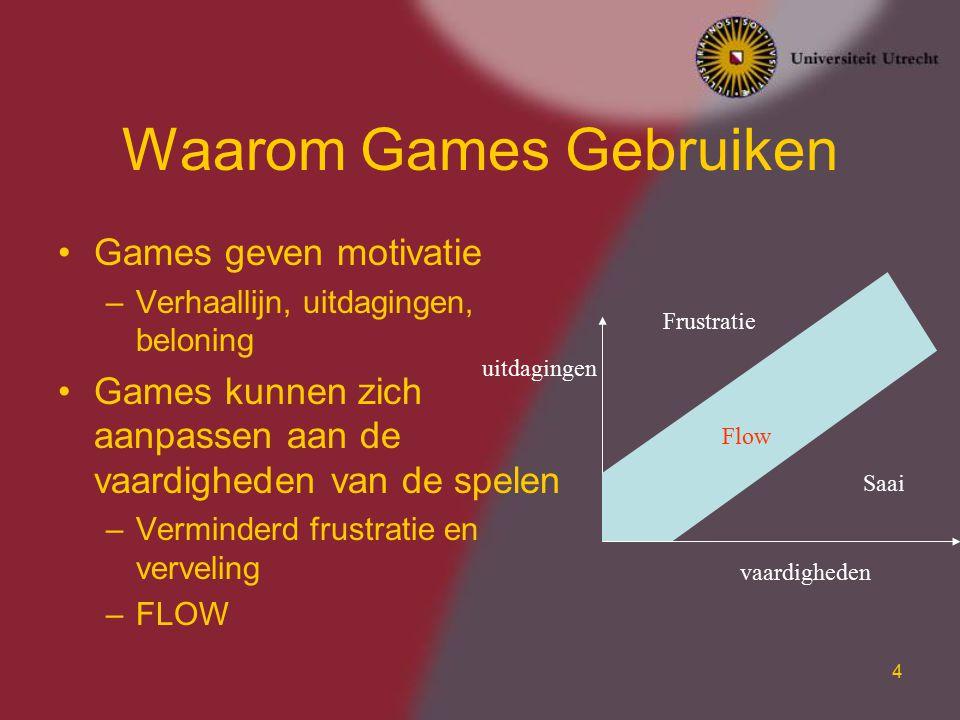 Waarom Games Gebruiken