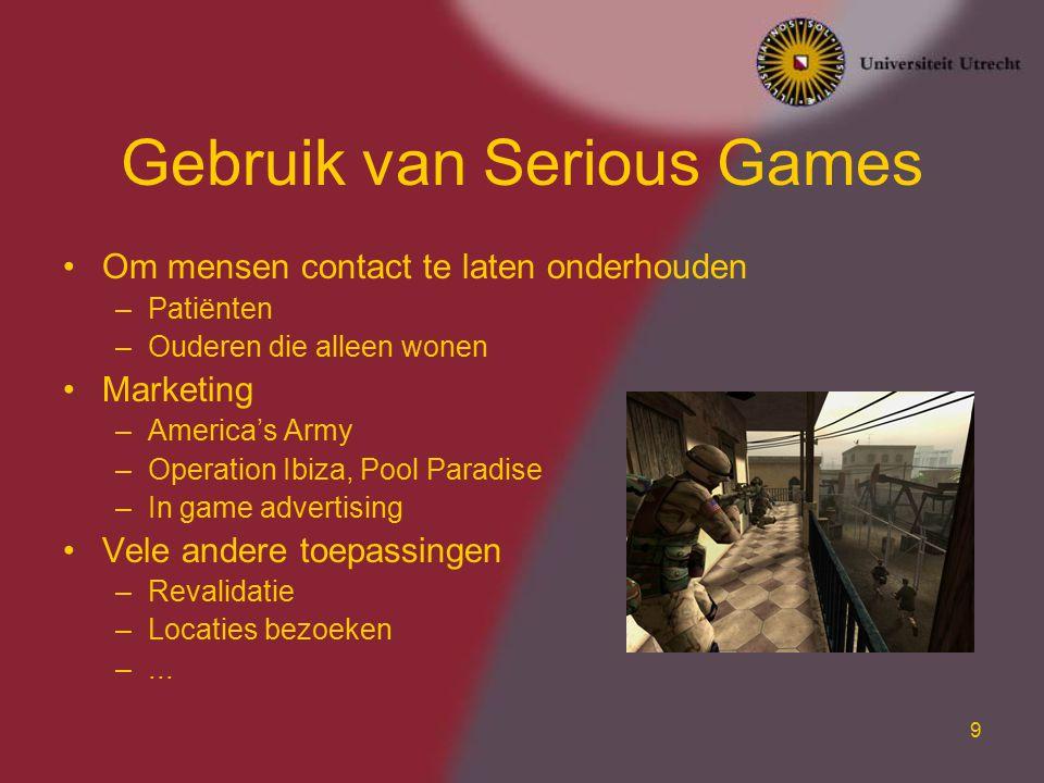 Gebruik van Serious Games
