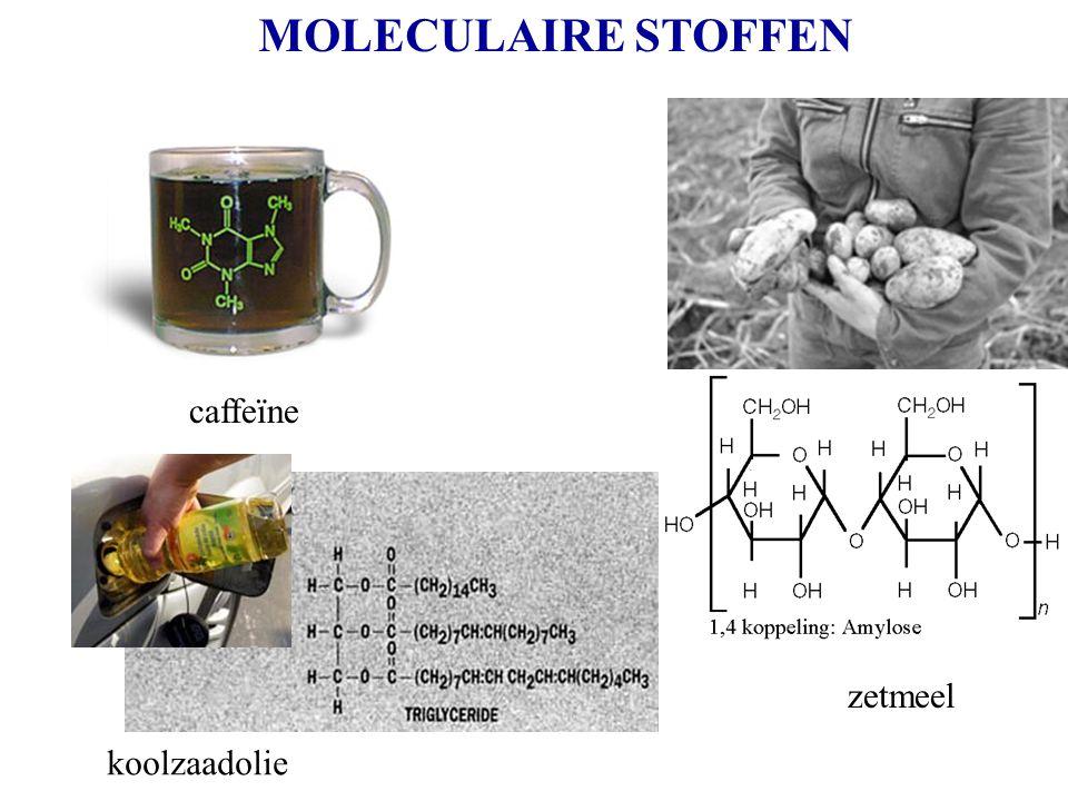 MOLECULAIRE STOFFEN caffeïne zetmeel koolzaadolie